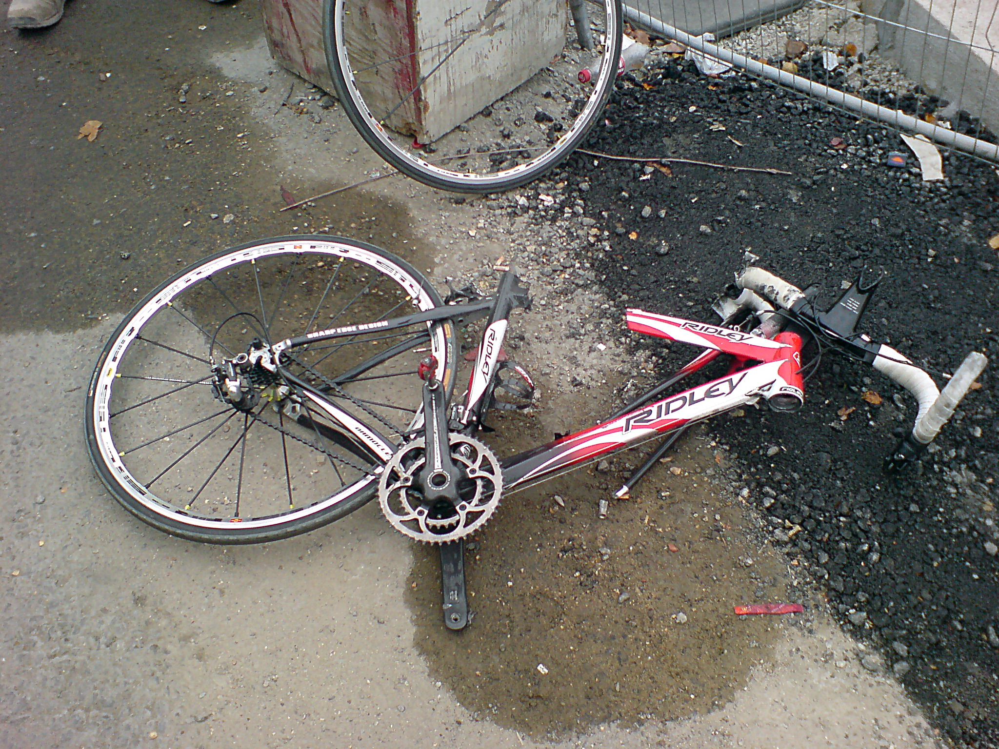 Broken Triathlon Bike