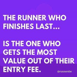 Runner gets best value from finishing last