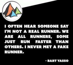 I've never met a fake runner