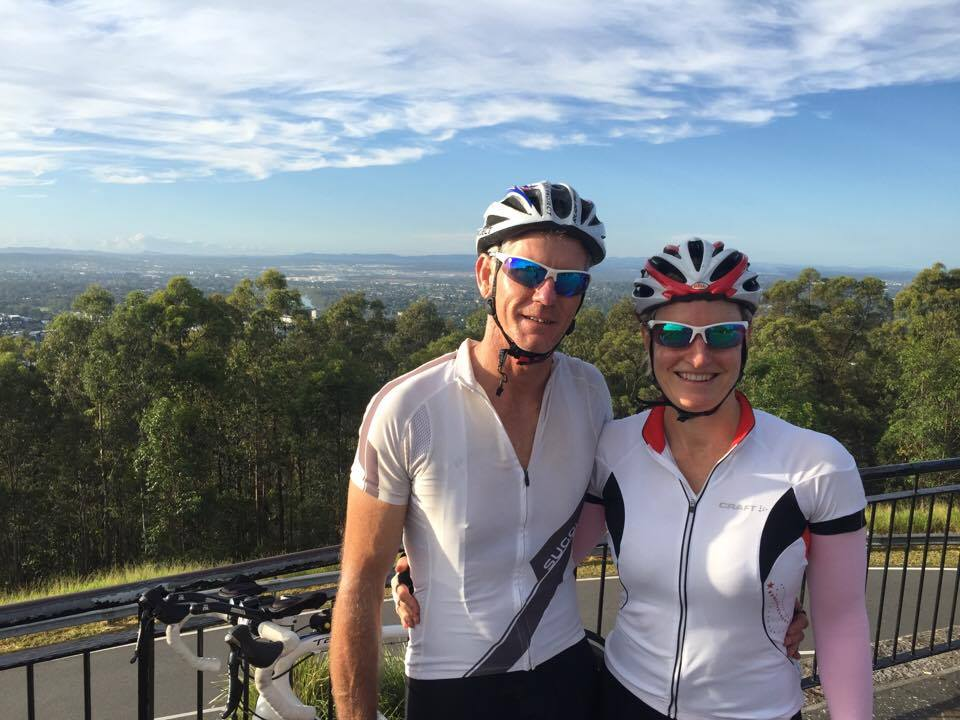 Rebecca and Brian at Mt Coot-tha