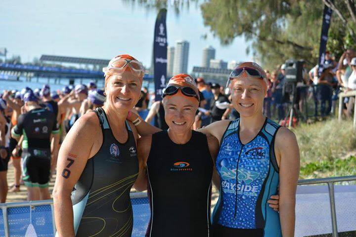Stef, Carol and Jane at Gold Coast Tri